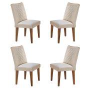 Conjunto Com 4 Cadeiras Jade Cor Imbuia Rufato Móveis