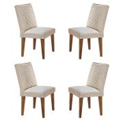 Conjunto Com 4 Cadeiras Lunara Cor Imbuia Rufato Móveis