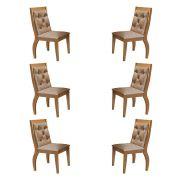Conjunto Com 6 Cadeiras Agata Cor Imbuia Rufato Móveis