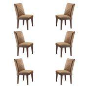 Conjunto Com 6 Cadeiras Jade Cor Café Rufato Móveis