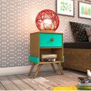 Criado Mudo Twister Retro 1 Gaveta Tcil Móveis