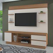 Estante Home para TV até 60 Polegadas Buran JCM Movelaria Naturale Off - Casa dos Móveis Ubá