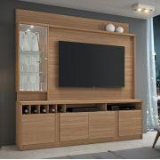 Estante Home para TV até 60 Polegadas com LED Canastra JCM Móveis Naturale