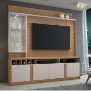 Estante Home para TV até 60 Polegadas com LED Canastra JCM Móveis Naturale Off