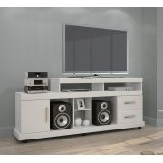 "Rack Bem Ti Vi TV 50"" cor Branco JCM Móveis - Casa dos Móveis Ubá"