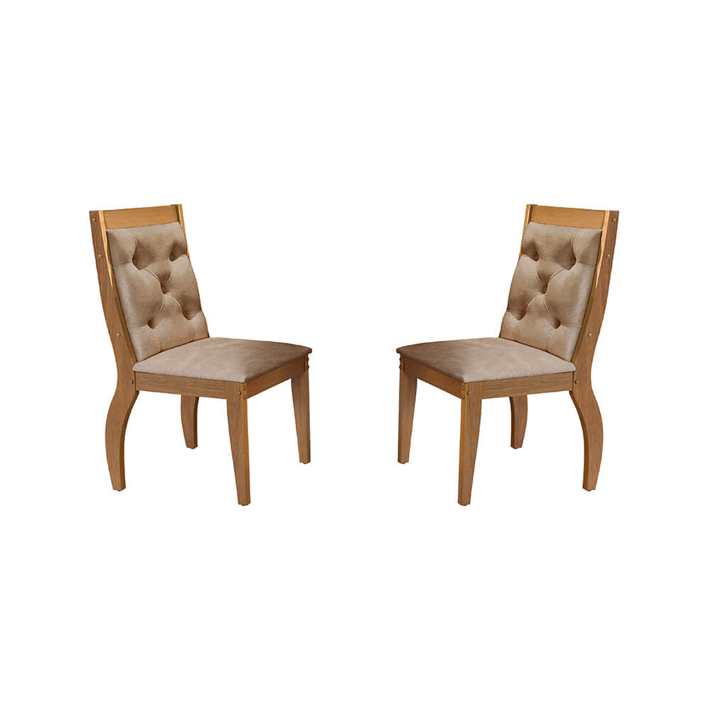 Conjunto Com 2 Cadeiras Agata Cor Imbuia Rufato Móveis
