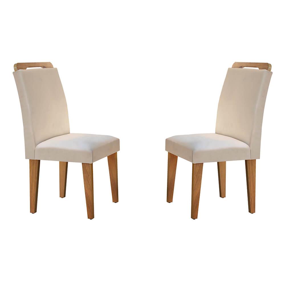 Conjunto Com 2 Cadeiras Athenas Cor Imbuia Rufato Móveis