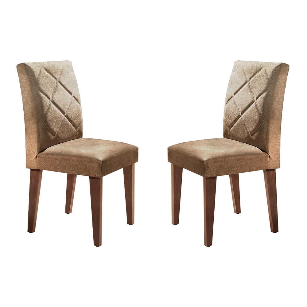 Conjunto Com 2 Cadeiras Berlim Cor Café Rufato Móveis