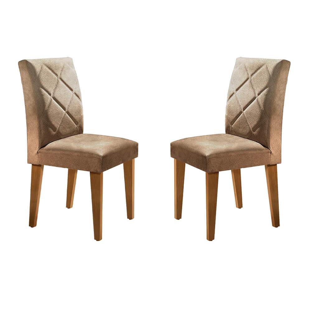 Conjunto Com 2 Cadeiras Berlim Cor Imbuia Rufato Móveis