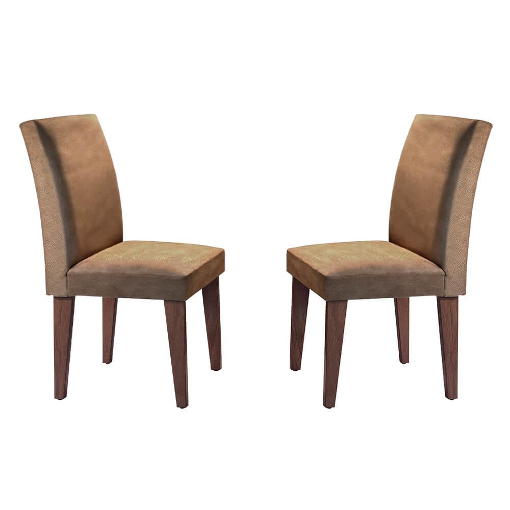 Conjunto Com 2 Cadeiras Grécia Cor Café Rufato Móveis