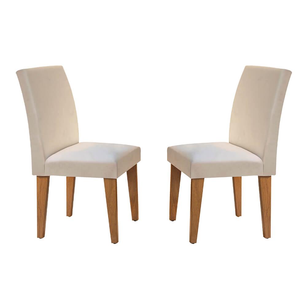 Conjunto Com 2 Cadeiras Grécia Cor Imbuia Rufato Móveis