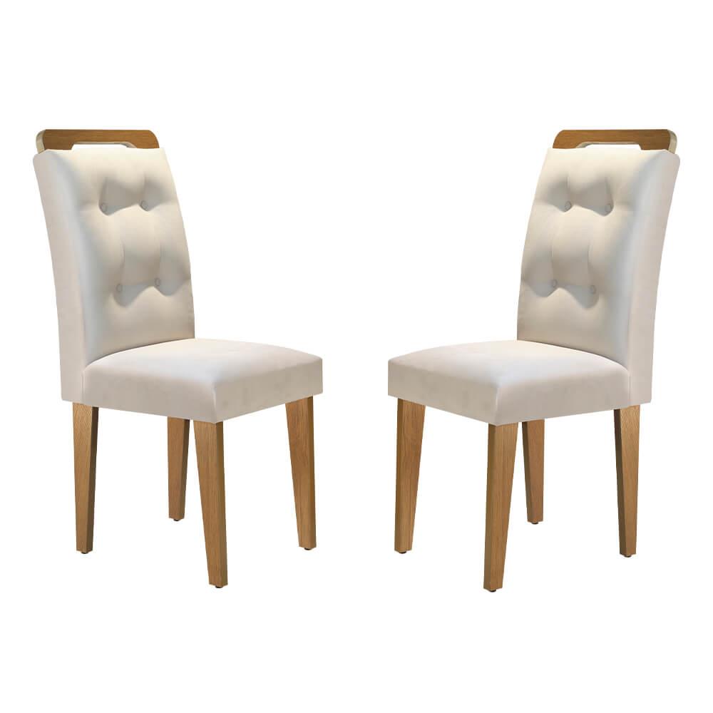 Conjunto Com 2 Cadeiras Imperatriz Cor Imbuia Rufato Móveis