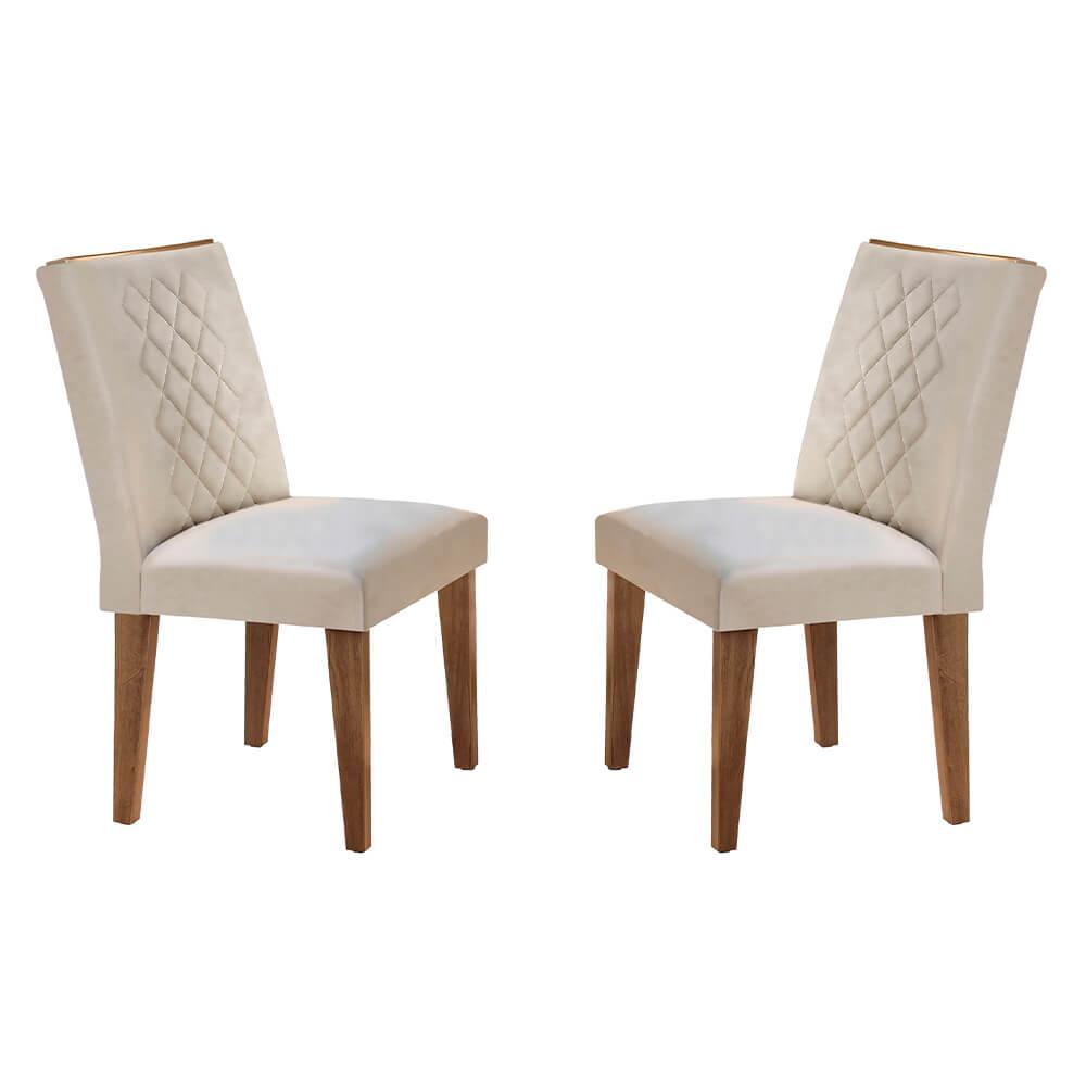 Conjunto Com 2 Cadeiras Jade Cor Imbuia Rufato Móveis