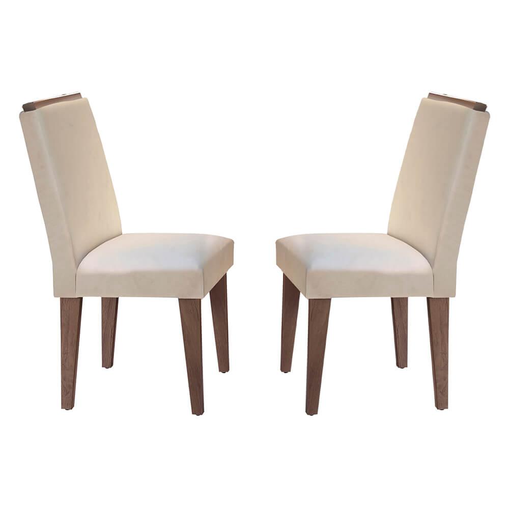 Conjunto Com 2 Cadeiras Lunara Cor Café Rufato Móveis