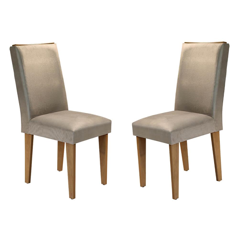 Conjunto Com 2 Cadeiras Lunara Cor Imbuia Rufato Móveis