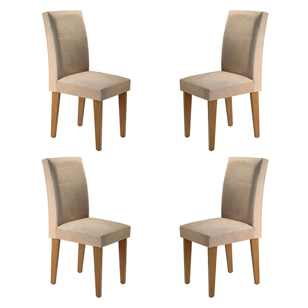 Conjunto Com 4 Cadeiras Grécia Cor Imbuia Rufato Móveis