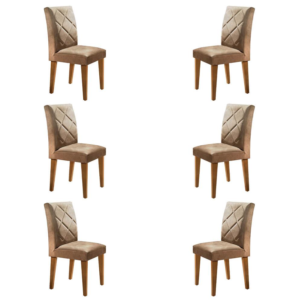 Conjunto Com 6 Cadeiras Berlim Cor Imbuia Rufato Móveis