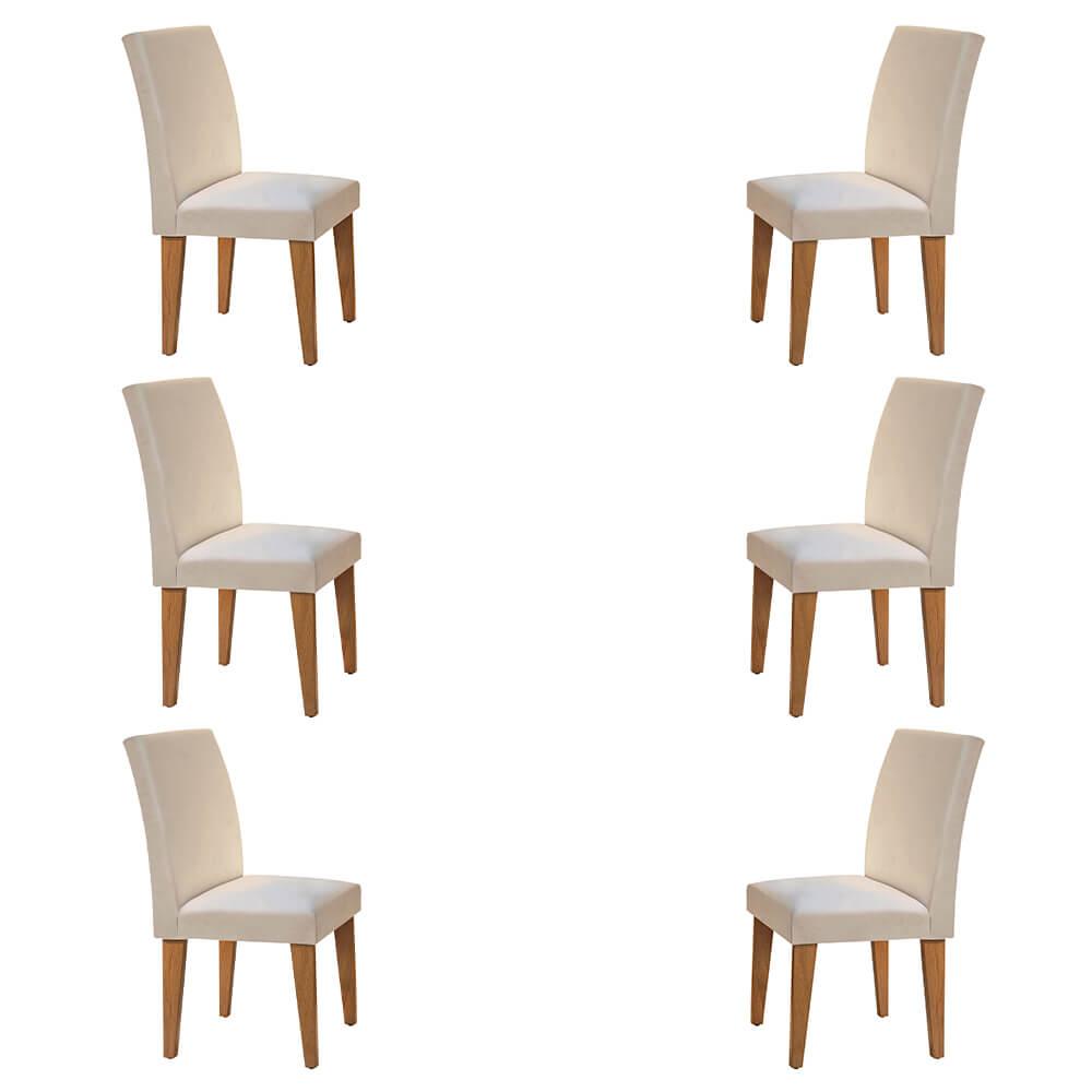 Conjunto Com 6 Cadeiras Grécia Cor Imbuia Rufato Móveis