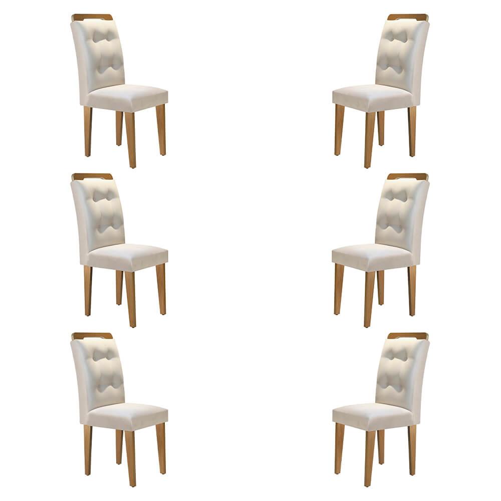 Conjunto Com 6 Cadeiras Imperatriz Cor Imbuia Rufato Móveis