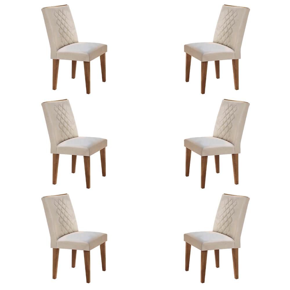 Conjunto Com 6 Cadeiras Jade Cor Imbuia Rufato Móveis