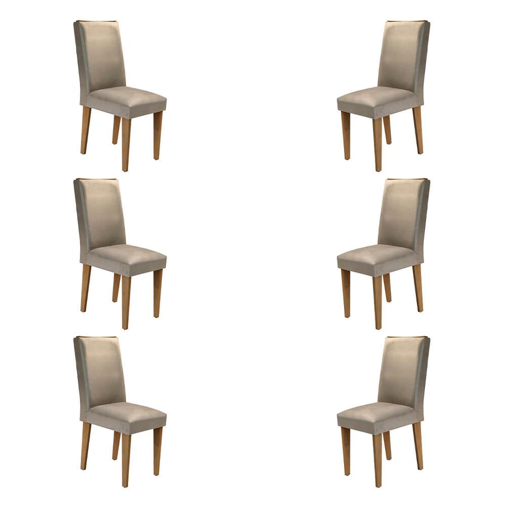 Conjunto Com 6 Cadeiras Lunara Cor Imbuia Rufato Móveis