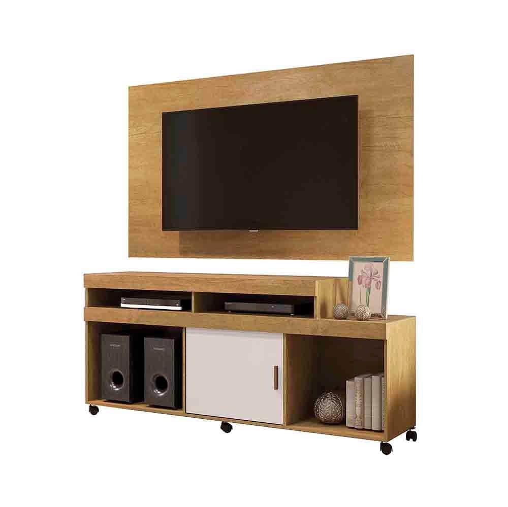 Conjunto Rack Primus com Painel Confort para TV até 65 Polegadas Mavaular Móveis