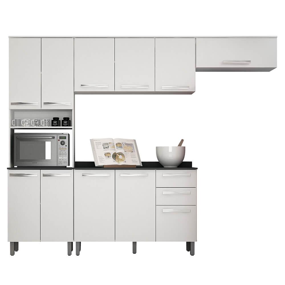 Cozinha Compacta 4 Peças Alpes 11 Portas 2 Gavetas Valdemóveis