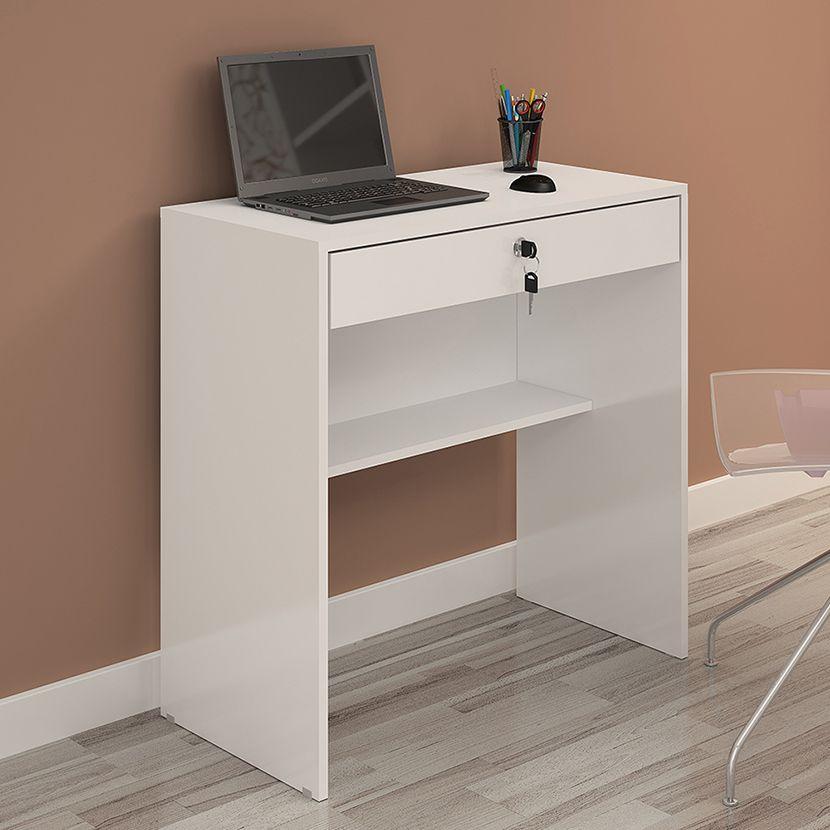 Escrivaninha Andorinha cor Branca JCM Móveis - Casa dos Móveis Ubá
