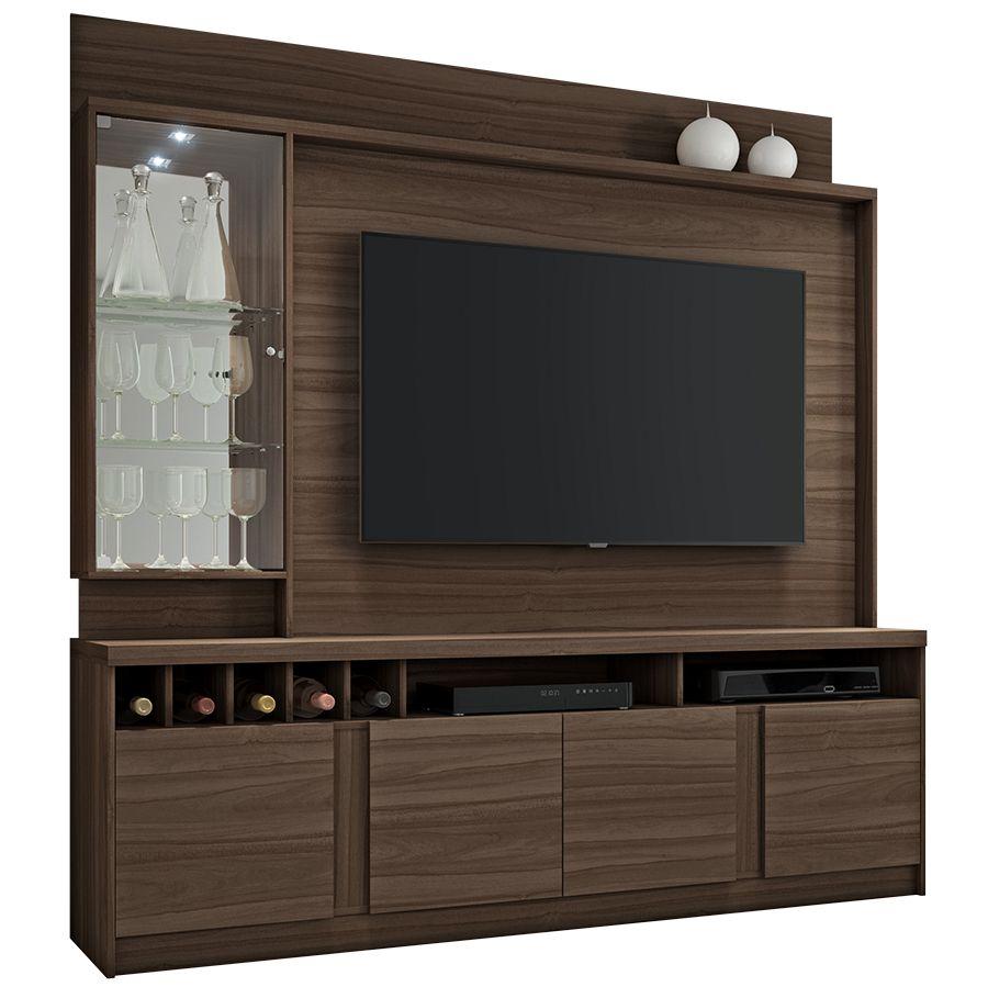 Estante Home para TV até 60 Polegadas com LED Canastra JCM Móveis Imbuia