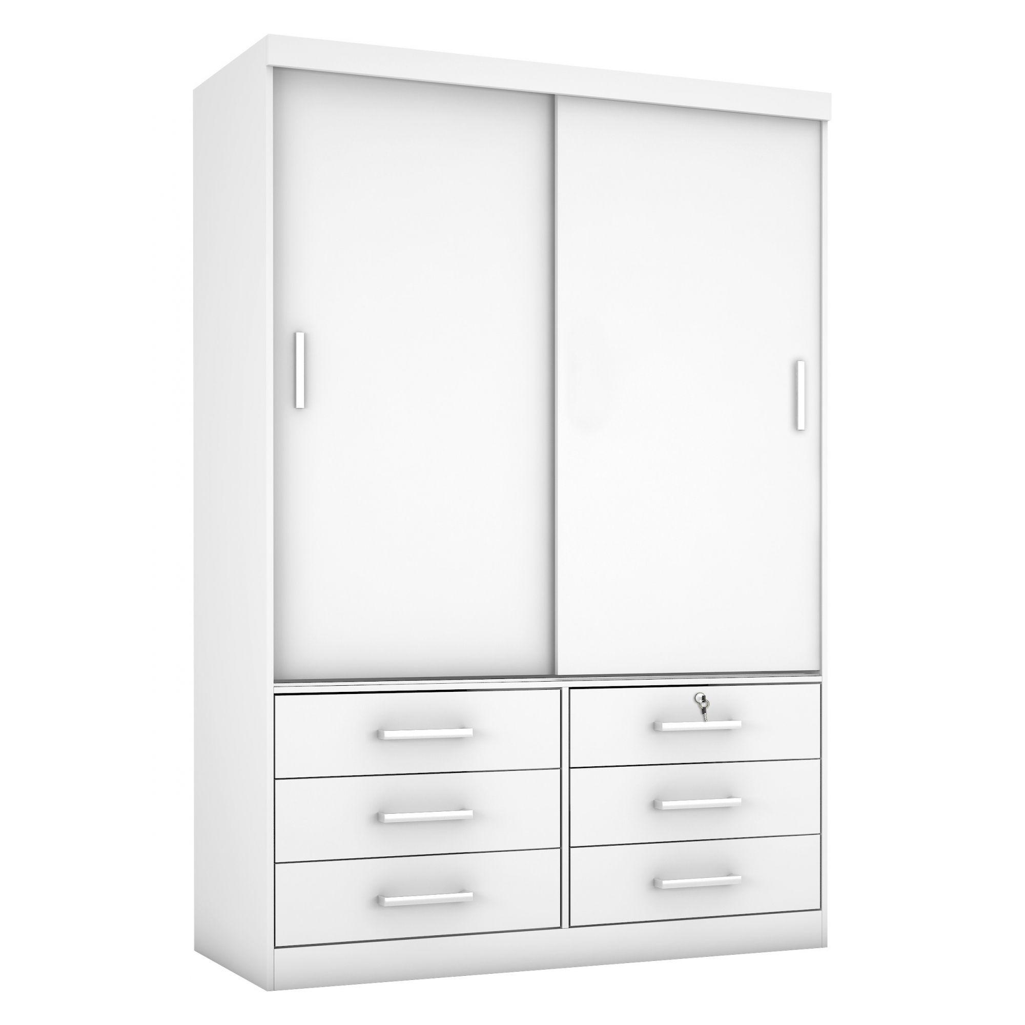 Guarda-Roupa com Espelho Sonare 2 portas cor Branco - Novo Horizonte