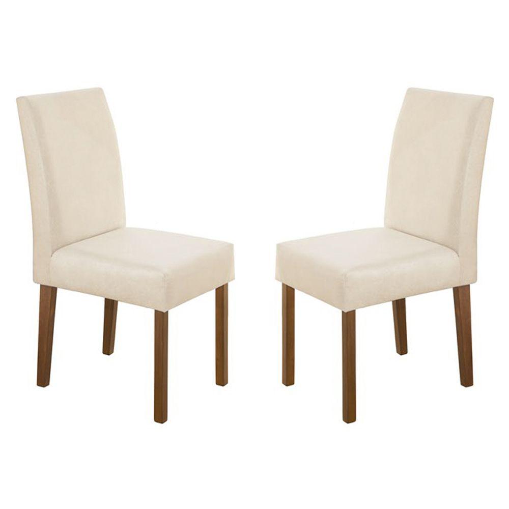 Kit Com 2 Cadeira Lara Com Pés Cor castanho Minas Decor