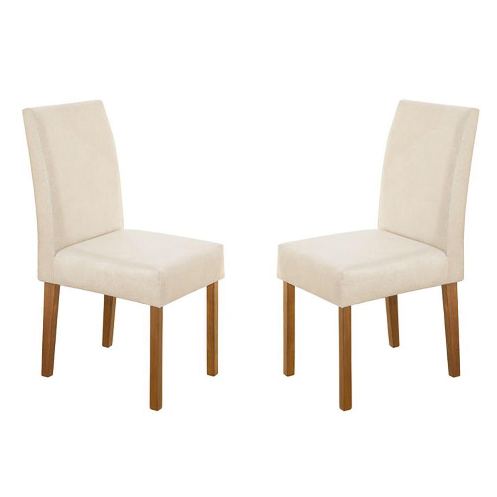 Kit Com 2 Cadeira Lara Com Pés Cor Imbuia Minas Decor