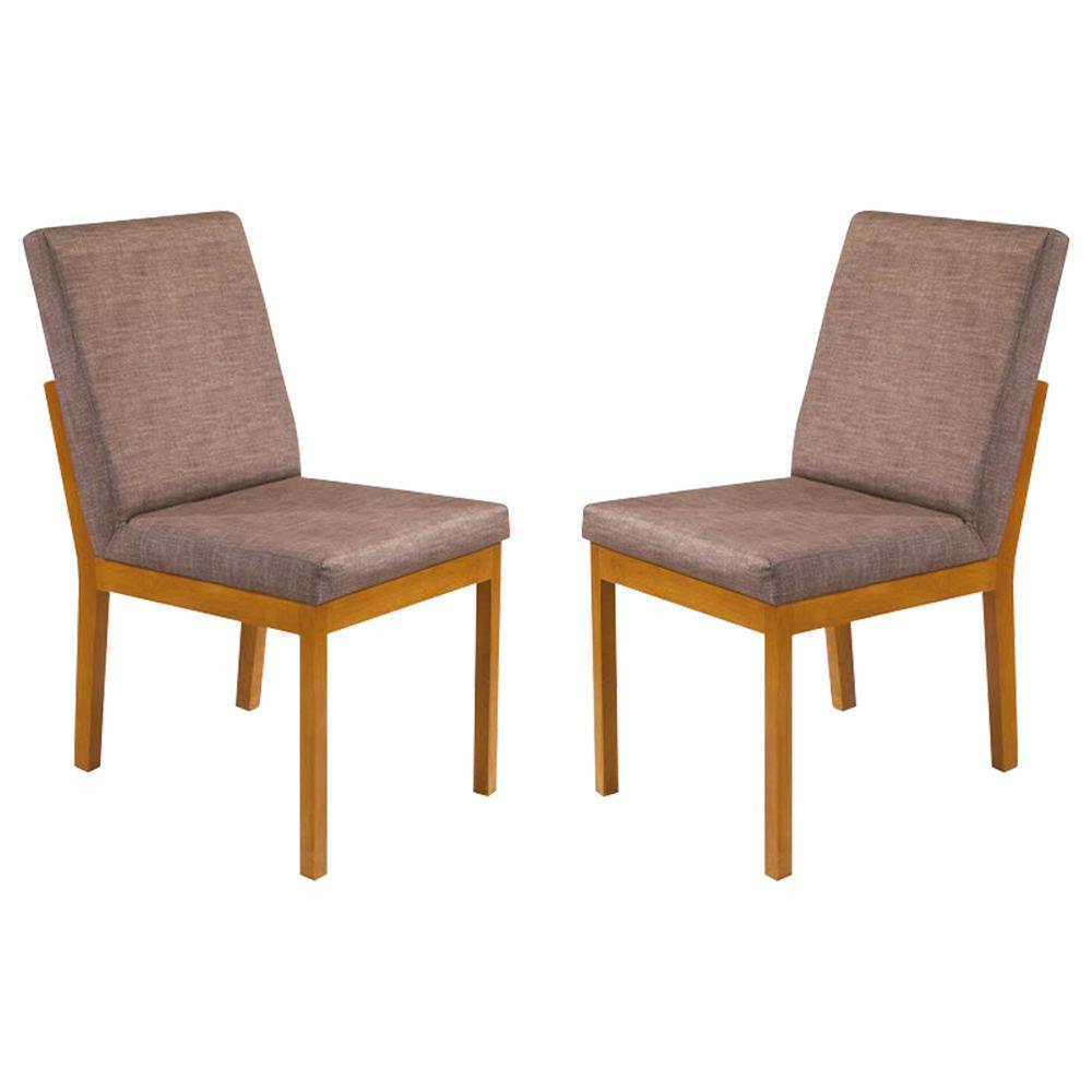 Kit Com 2 Cadeiras Natália Com Pés Em Madeira Minas Decor