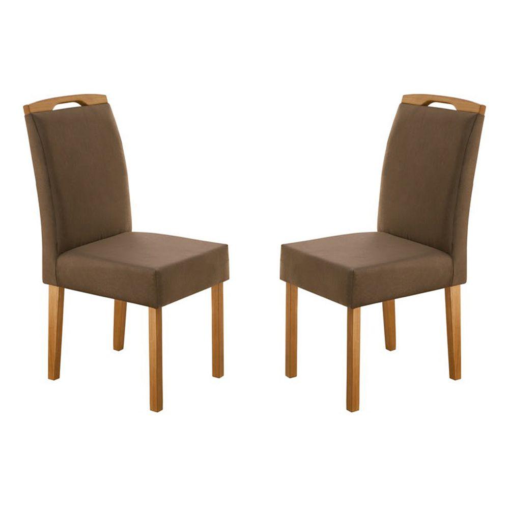 Kit Com 2 Cadeiras Priscila Com Pés Em Madeira Minas Decor