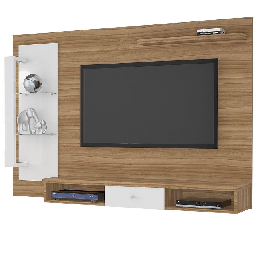 Painel para TV até 50 Polegadas com LED Cromo JCM Móveis