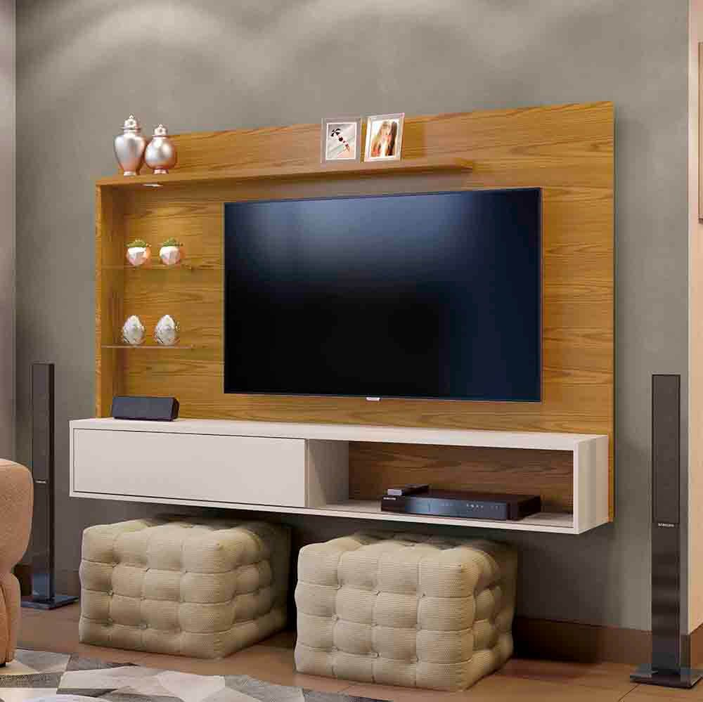 Painel para TV até 55 Polegadas Kansas Plus Mavaular Móveis