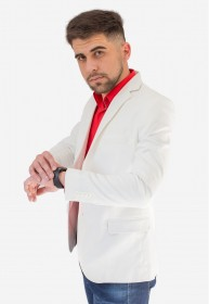Blazer Jordhan Masculino Slim Branco