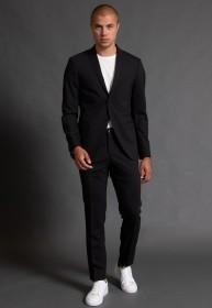 Terno Masculino Jordhan Slim Fit Black Edition Microfibra