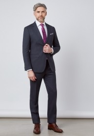 Terno Masculino Slim Fit Chumbo Escuro Oxford Jordhan