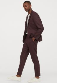 Terno Jordhan Slim Fit Bordo Melange Luxury Edition