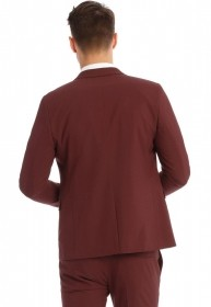 Terno Slim Fit Oxford Bordo Exclusividade Jordhan