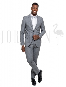 Terno Slim Fit Oxford Chumbo Jordhan