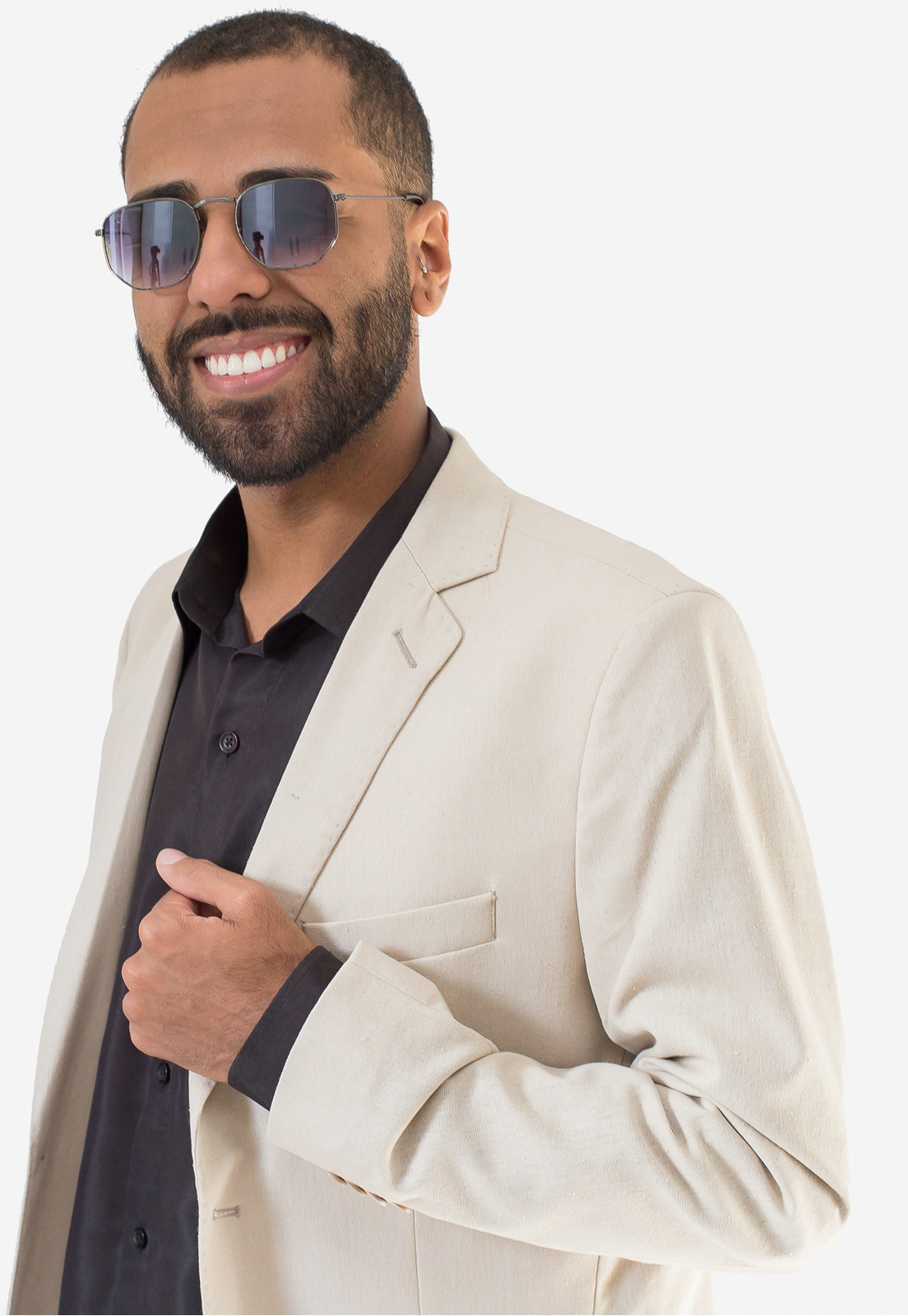 Blazer Jordhan Masculino Slim Bege