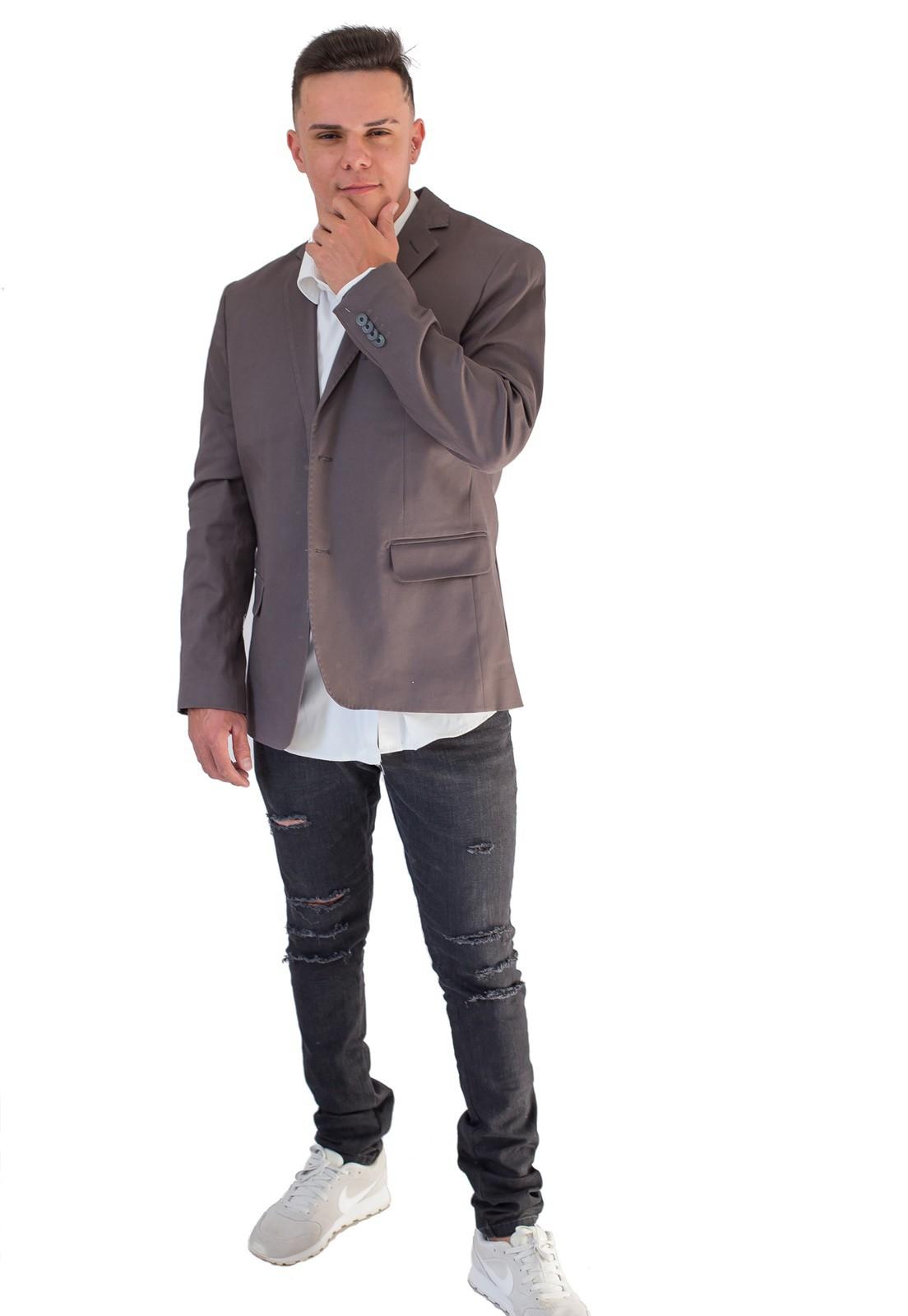 Blazer Jordhan Masculino Slim Fit Chumbo