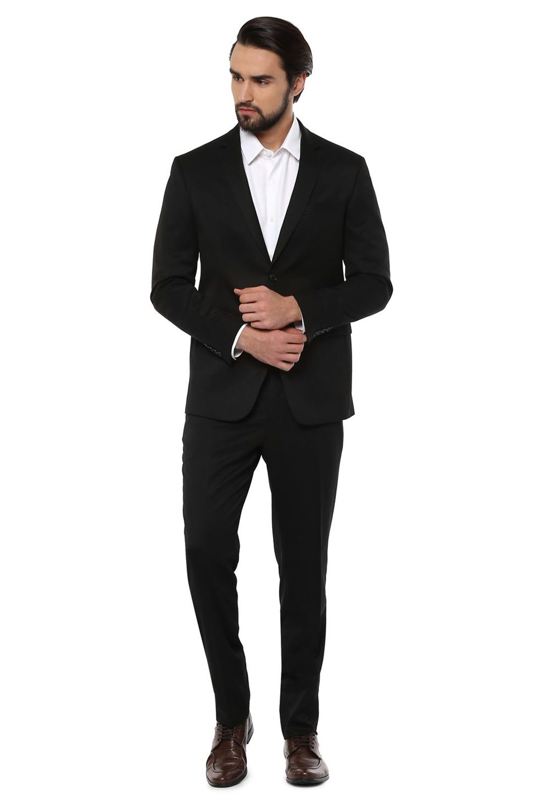 Blazer Social Masculino Oxford Preto Jordhan