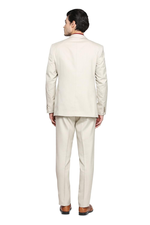Blazer Social Slim Masculino Oxford Creme Jordhan