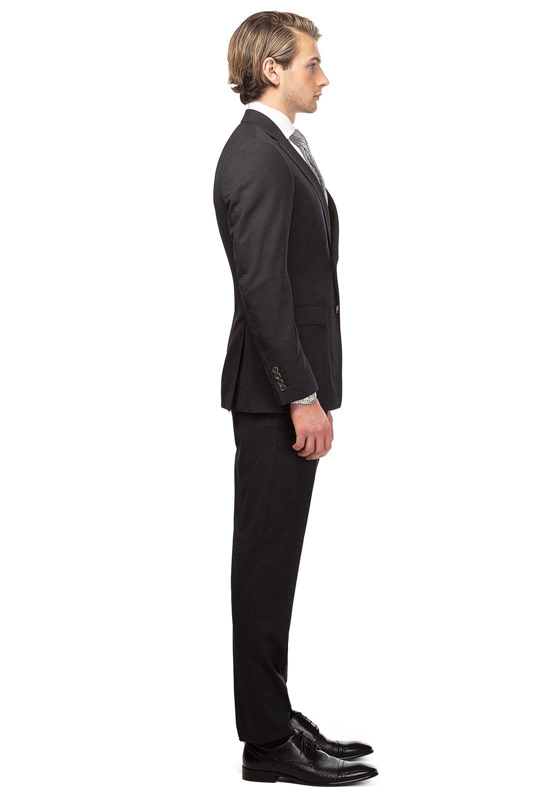 Terno Jordhan Slim Fit Masculino Microfibra Preto