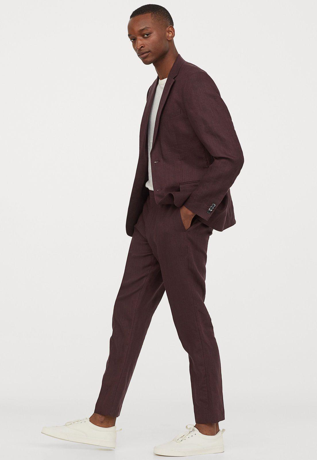 Terno Jordhan Slim Fit Microfibra Bordo Luxury Edition