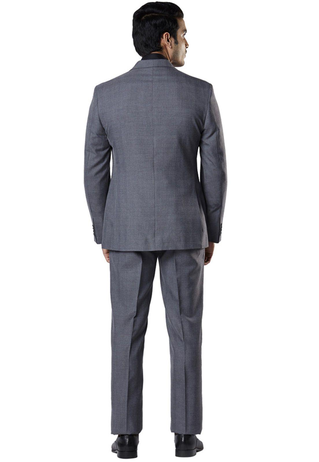 Terno Slim Masculino Oxford Chumbo Jordhan