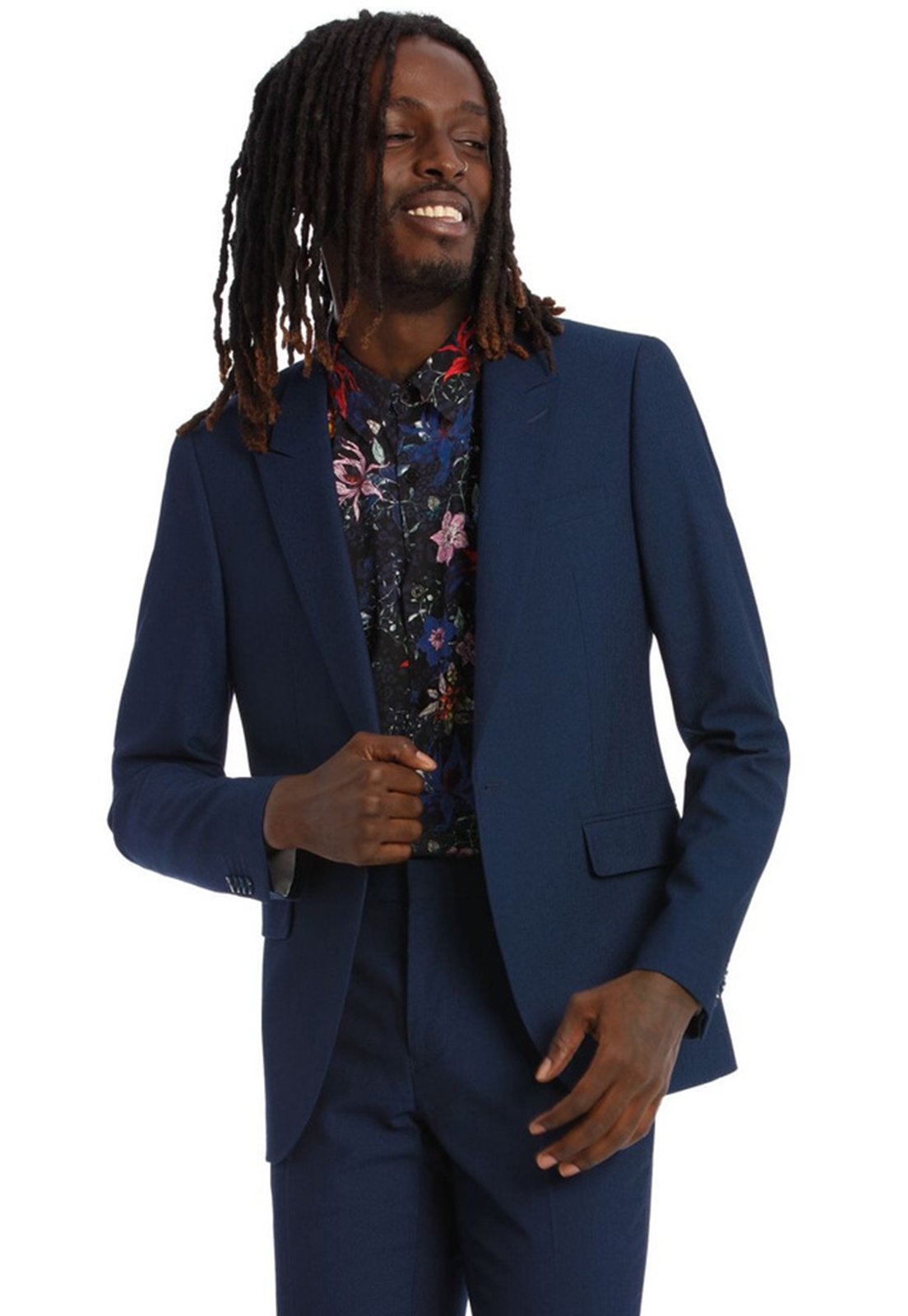Terno Slim Masculino Oxford Azul Marinho